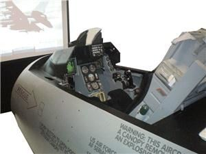 FSRentals, Azle — FSRentals Portable Military F-16 Flight Simulator