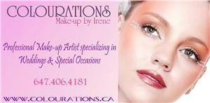 COLOURATIONS | Make-up by Irene, Mississauga — Professional Toronto Makeup Artist specializing in both traditional and airbrush make-up for weddings, special occasions, photo shoots, film/Tv, shows/events, commercial work, editorials, personal lessons and spa services. Available for on-location services only.