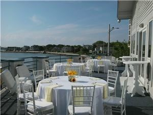 The Bay View Room At Sunset Bay, Hull — Rehearsal Dinner on our second floor deck