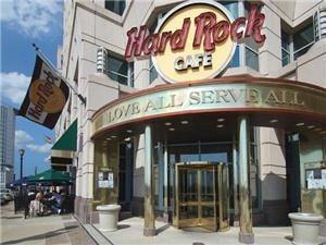 Hard Rock Cafe: Cleveland, Cleveland — 230 West Huron Road in Tower City Center.  $3 Valet parking directly in front of the cafe!