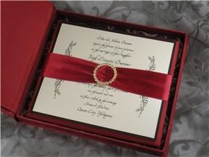 Impress Me Designs - Newport, Newport — This luxurious silk boxed invitation can be customized to any color palette.
