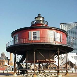 Lighthouse Garden, Pier 5 Hotel, Baltimore — This beautiful oasis located at the far end of the Inner Harbor Pier 5 next to the historic 7-Foot Knoll Lighthouse, with panoramic views of the Inner Harbor, is Baltimore's premier outdoor banquet location. Accommodates 10 to 300 guests. Transparent or traditional tenting available.
