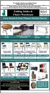 Folding Tables And Chairs Warehouse - Mallard Solutions, Dallas — Folding Tables and Chairs Warehouse supplies wholesale, plastic, wooden, resin and laminate tables and chairs to party rental businesses, hotels, banquets facilities conference, trade show and convention center as well as restaurants, churches and schools.