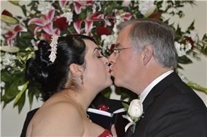 JS Photography, Dallas — Fist kiss as husband and wife