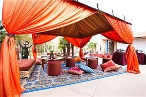 Mosaik Events, Los Angeles — From  Moroccan party tents, Berber rugs, authentic Moroccan furniture, from teapots, tea glasses, Moroccan leather ottomans, lounge furniture, brass tray tables,  exotic Moroccan lanterns, hookahs, silk floor pillows and fabrics, and many more Moroccan decorations. We rent to event planners, for corporate events, Moroccan birthday parties, bridal showers, dinner parties or if you are simply planning your own Moroccan event come over and check our Moroccan event furniture.