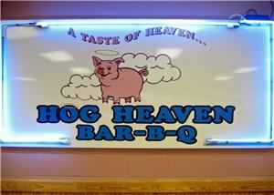 Hog Heaven Bar-B-Q, Durham — Barbecue in the true Southern tradition is what you always get at Hog Heaven Bar-B-Q where barbecue means something much more than just a fine dinner.