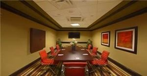 Board Room, Hilton Garden Inn Oxford/Anniston, Oxford — Our Executive Boardroom is perfect for your small meeting, complete with multimedia, whiteboard, and wireless Internet Access!