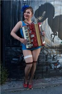 Luz Gaxiola, Vashon — Luz as featured in the 2011 West Coast Accordion Babes Calendar.