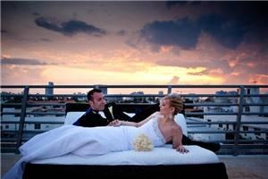 Beach Weddings of Miami, Key Biscayne — Rooftop of Z Hotel, Miami Beach at Sunset