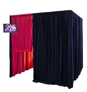 Photo Booth Pro, Aliso Viejo — 6x6 Velvet Photo Booth will fit up to 15 adults! Also available in other colors!