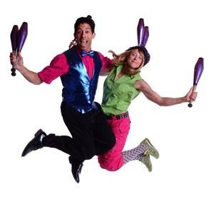 Hollywood's Favorite Jugglers - Jack & Jeri, Van Nuys — random jumping photo of Jack & Jeri
