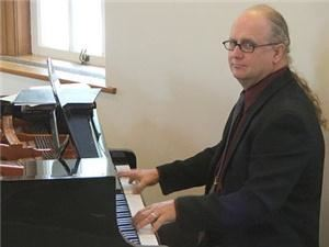 JTBlues, Bellefonte — JT at the piano for Mark & Melinda's wedding, Eisenhower Chapel, PSU Campus