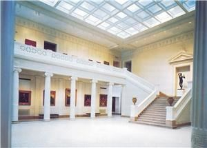 Great Hall, New Orleans Museum of Art, New Orleans — The grand staircase is complimented by soaring neoclassic white columns, providing a canvas on which to create a magnificent event.