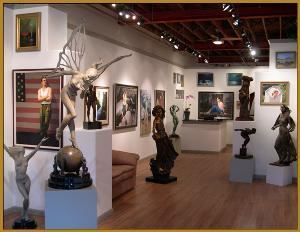 Quent Cordair Fine Art, Napa — One of the gallery wings
