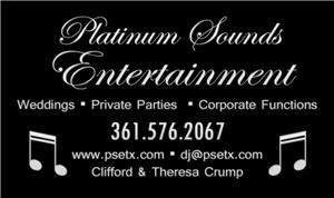 Platinum Sounds Entertainment, Victoria — Platinum Sounds Entertainment is a husband and wife team that is dedicated to providing seamless entertainment for your event. While the husband DJ's the wife will MC your event and keep everything on schedule. Let us make your special event flawless and one that your guest will remember for years to come!