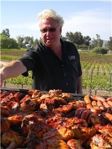 Vineyard, Lorimar Vineyards & Winery, Temecula — Grilling up a storm out at the vineyard!