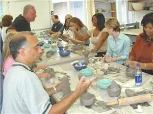 Lakeside Pottery Ceramic School and Studio, Stamford — Team building programs at Lakeside Pottery have been specifically designed to achieve goals that we find our clients seek and that our medium can provide. Participants discover behavior differences and similarities while having fun learning a new skill. We offer a few options for you to choose from.