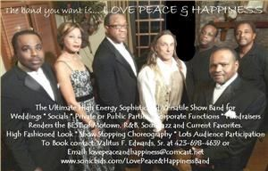 Love, Peace & Happiness Band, Knoxville — Great dance, cover, and variety band that will make your wedding reception, corporate party, or special event come alive.