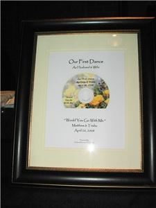A Sound Decision DJ, Griffith — A Beautiful Framed Cd of the bride and Grooms first dance Our Gift to all the couples