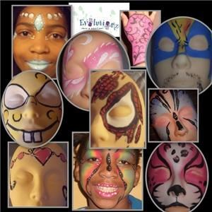 Evolutionz Face & Body Art, Milwaukee — Here is a sampling of some of the fabulous designs we can create for your event!