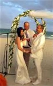 Ideal I Do's - Columbus, Columbus — Rev. Brad at the wedding of Reyna and Vik