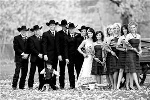 Finalshot Photography, East Glacier Park — Meet the Sinclair's wedding party fall wedding.  Photo copyright ©tonybynum.com, all rights reserved.