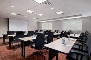 Conference Room V, Hilton Cincinnati Airport, Florence — Each Conference Room has a pull-down screen and can accommodate up to 24 people classroom style.