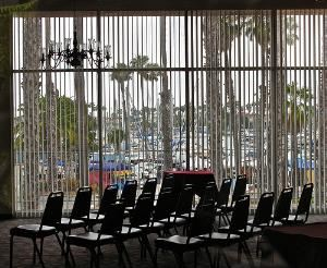 The Marina, Sea Port Marina Hotel, Long Beach — The Marina Room is ideal for events of 100 to 150 persons.  This room has a spectacular view of the marina with an outdoor balcony.