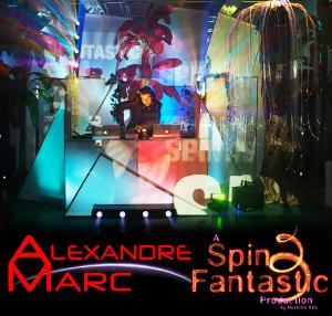 SpinFantastic, Fort Lauderdale — Mosaic of lights controlled by the DJ are modular and adapt to any event configuration. The Jumbo projectors add stunning visuals effects with a montage of client's own material.