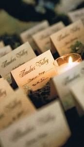 A Piece of Cake Party Planning, Lumberton — Wedding placecards Flanders Valley Courtesy of Wedding Tiffany Atlas Photography