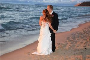 Photography By Blair - Grand Rapids, Grand Rapids — A Beach Wedding and Sunset on Lake Michigan.