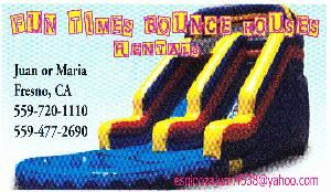 Fun Time's Bounce House's, Fresno — WE HAVE ALL BRAND NEW BOUNCE HOUSE AND WATER-SLIDE