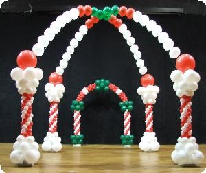 Balloons Decor And More, Greenville — Red white and green candy land sweet treats theme