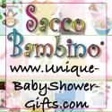 Unique BabyShower Gifts/Sacco Bambino, LLC, Las Vegas — Unique baby shower gifts and baby shower event planning ideas. Complete line of baby shower gifts, baby shower invitations, favors, decorations, games, prizes and much more! Home of Sacco Bambino®, unique baby gifts in a bag and Sacco Bambino® nursery wall art.