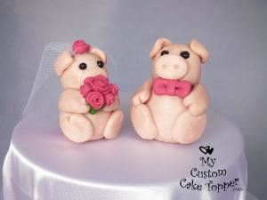 My Custom Cake Topper, Saskatoon — Piggies in Pink My Custom Cake Topper