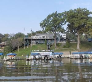Danville Boat Club, Danville — View of the Danville Boat Club from Lake Vermilion.