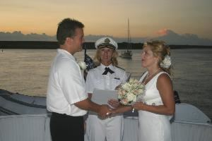 Wedding Officiants Florida, Palm Coast — Sunset wedding on the Matanzas River, St. Augustine, FL.