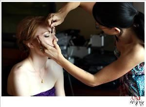 Cotton Rouge, Professional Makeup and Hair artist, Greenville — Behind the scenes makeup application