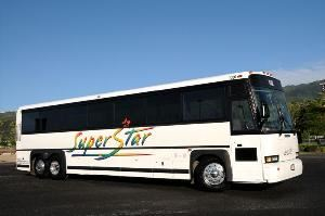 Superstar Hawaii Transit Service, Honolulu — Refurbished and superbly maintained fleet of MCI Motorcoaches, recently upgraded to all 102 models. Great for convention shuttle service, school groups and budget airport transfers! Professional and courteous drivers make your tour complete!