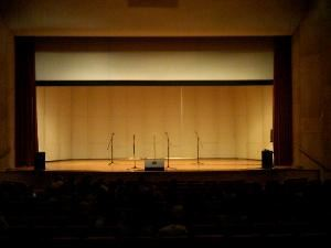 Breaking Ground Entertainment, Leesburg — Accapella concert set up at John's Hopkins University Shriver Hall.