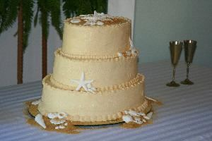 Carrie Ann & Co., Monticello — One of our wedding cakes - everything on the cake was edible.