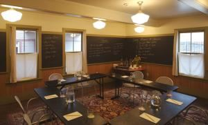 The Board Room, The Porches Inn at MASS MoCA, North Adams — The Board Room, located in the Reception Building and