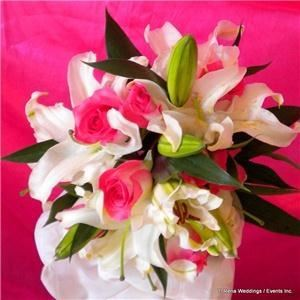 Wedding Party of 12 Floral Package- $1,025, T. Rena Weddings/ Events Inc.---Floral, Jamaica — Lily & Rose Bouquet