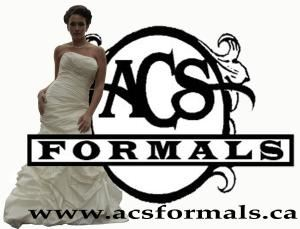 ACS Formals, Riverview — Come visit us on location or our online store www.acsformals.ca .  Over 50 different designers with over 500 dresses in stock from which to choose.  Designers include Alfred Angelo, Alfred Sung, Alyce, After Six, Anjolique...