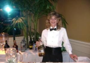 Party Servers Bartending, Apopka — Michele the owner of Party Servers, we have been serving the Orlando area since 1994. I'm bartending a wedding at City Arts Factory downtown Orlando.