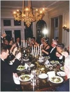 Dining Room, Greystone Hall, West Chester — Black Tie Dinner in Dining Room