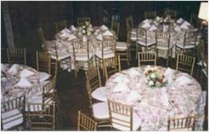 Library, Greystone Hall, West Chester — Winter Banquet in Library