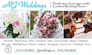 Wedding Day Coordination Package (100-200), MJ Weddings & Events, Montreal