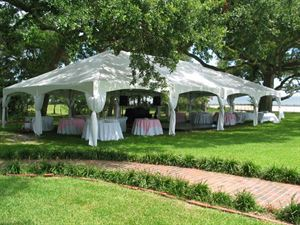 Silver City Event Center, Tents over Georgia, Cumming — 30x60 reception 140 ppl