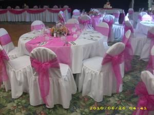 Pretty Party Linens - Rentals, Cape Coral — Pretty Chair Covers - Custom made party linen rentals.  If we don't have it?..we can make it!! Contact us for a free quote!!!